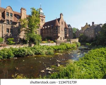 The Dean village (formerly Water of Leith village) in Edinburgh, UK