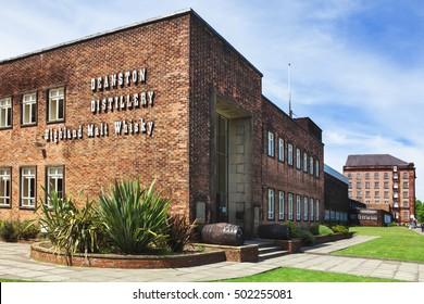 Deanston, Scotland - June 06, 2016: Deaston, one of Scotland's oldest and smallest producers of single malt whisky. Deaston, Scotland, UK