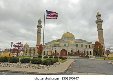 DEARBORN, MI -10 NOV 2018- View of the Islamic Center of America, the largest mosque in North America, located in Dearborn, Michigan.