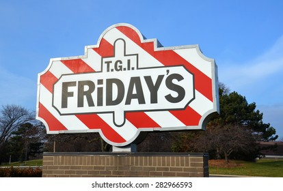 DEARBORN, MI - DECEMBER 21:  TGI Friday'??s, whose Fairlane Mall store logo is shown on December 21, 2014, has over 900 restaurants.