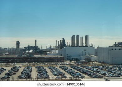 Dearborn, Mi, Usa - March 2019: The Ford River Rouge Complex is a Ford Motor Company automobile factory complex.