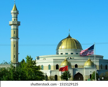 Dearborn, Mich./USA-9/21/19: The Islamic Center of America, a Shia mosque, in the Detroit suburb of Dearborn.