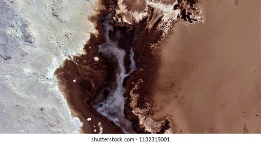 the death of the lady in white, allegory,polluted desert sand,tribute to Pollock, abstract photography of the deserts of Africa from the air, aerial view, abstract expressionism, contemporary photogra