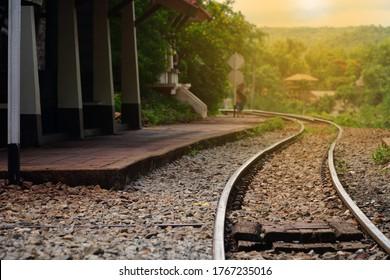 "Death Railway ""Krasae cave"", The Bridge of the River Kwai at Kanchanaburi Thailand."