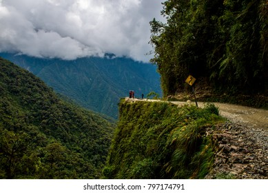 The Death Road is one of the most dangerous roads in the world. The North Yungas Road in Bolivia, leads from La Paz to Coroico and is popular for travellers to brave the danger and cycle down.