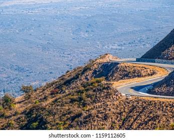 Death road. Sinuous road. Camino del Cuadrado. Córdoba. Argentina.