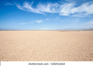 Death Valley area Silurian dry lake in California's Mojave desert.