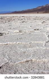 Death valley bad-water basin