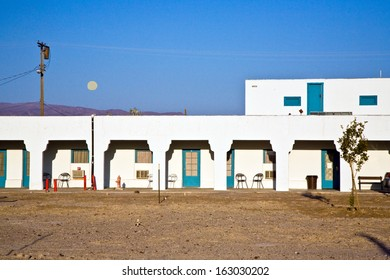 DEATH VALLEY JUNCTION, USA - JULY 19: Amargosa Opera House and Hotel on July 19, 2008 in Death valley Junction, USA. The old Borax mining spot is on the national register of historic sites.