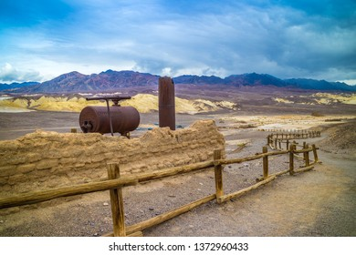 Death Valley National Park, CA, USA - March 9, 2018: A preserve wooden carriage along the preserve park