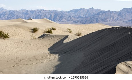 Death Valley National Park dessert dunes. Hottest, driest a lowest place in USA.