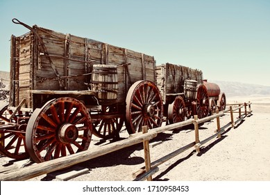 Death Valley National Park, one of the hottest places in the world. The twenty mule team wagon at the Harmony Borax Works is located in Death Valley at Furnace Creek Springs then called Greenland.