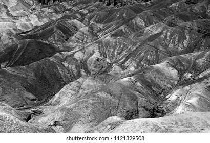 Death Valley_Badlands BW_4