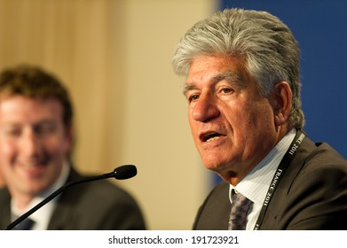 DEAUVILLE, FRANCE - MAY 26, 2011 : Publicis CEO Maurice Levy in Press conference at the summit G8 about new technologies - Deauville, France on May 26 2011