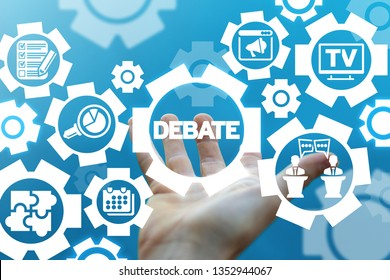 Debate political discussion concept. Politic debating success campaign.