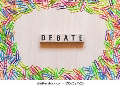 Debate word concept
