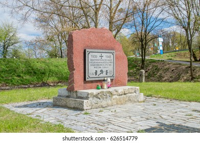 Deblin, Poland - April 20, 2017: Monument to fallen heroes who fighting with German Nazi in Deblin at july 1944.