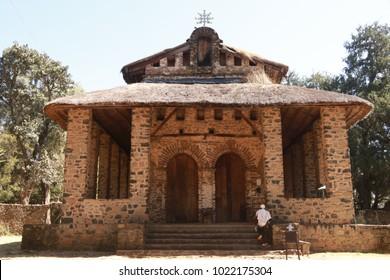 Debre Berhan Selassie Church in Gondar, Ethiopia.