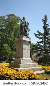 DEBRECEN. HUNGARY. 14 AUGUST 2012 : Monument to Csokonai in Debrecen. Hungary