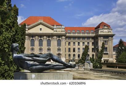 DEBRECEN. HUNGARY. 14 AUGUST 2012 : University in Debrecen. Hungary