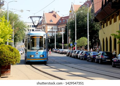 DEBRECEN, HUNGARY - August 13, 2018: City Street View in summer time