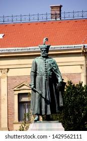 DEBRECEN, HUNGARY - August 13, 2018: Sculpture of István Bocskai (or Stephen Bocskay) Hungarian noble, prince of Transylvania