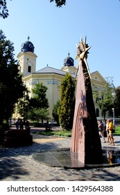 DEBRECEN, HUNGARY - August 13, 2018: City Street View Summer Time