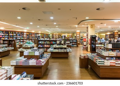 DEBRECEN, HUNGARY - AUGUST 24, 2014: Famous International Books For Sale In Libri Book Store, one of the largest retail bookseller in Hungary.