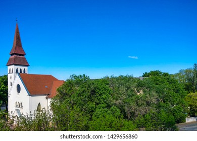 Debrecen, Hungary - May 14, 2019: Reformed Church on a clear sunny day.