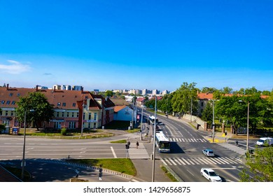 Debrecen, Hungary - May 14, 2019: View of the city on a clear sunny day.