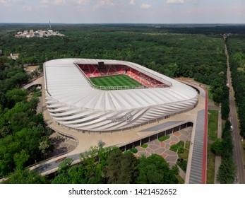 Debrecen / Hungary - May 29 2019: Nagyerdei Stadium