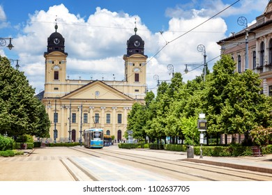 Debrecen, Hungary, view of the city center, beautiful city landscape