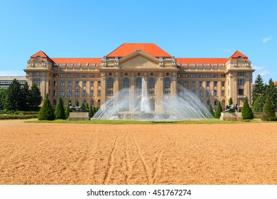 Debrecen University building in Hungary, Europe