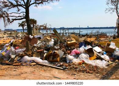 Debris from Hurricane Katrina. Taken near Biloxi, MS on September 9, 2005.