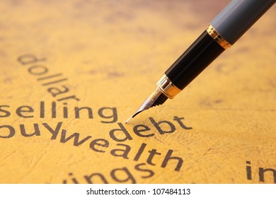 Debt selling concept
