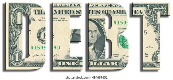 Debt. US Dollar texture.