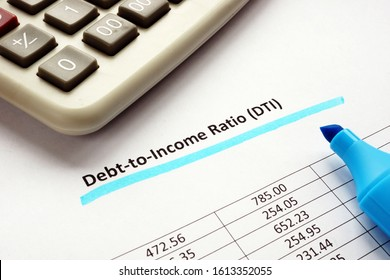 Debt-to-income ratio DTI blue marker underlined.
