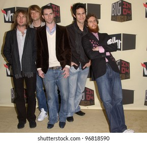 Dec 1, 2004; Los Angeles, CA: Pop group MAROON 5 at the VH1 Big in '04 Awards at the Shrine Auditorium, Los Angeles.