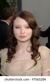 Dec 12, 2004; Los Angeles, CA: Actress EMILY BROWNING at the world premiere, in Hollywood, of her new movie Lemony Snicket's A Series of Unfortunate Events.