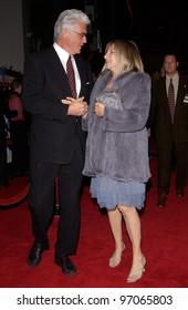 Dec 16, 2004; Los Angeles, CA: Actress/singer BARBRA STREISAND & husband actor JAMES BROLIN at the Los Angeles premiere of her new movie Meet the Fockers.
