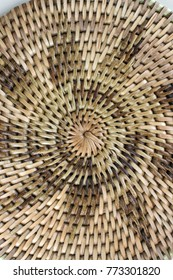 """Dec 2017, Honiara, Solomon Islands, a heat save coaster made from local """"bush material"""" shows a nice star shaped design, made from tree creepers,"""