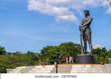 Dec 3, 2016 Lapu-Lapu Monument at Rizal Park ,Manila , Philippines