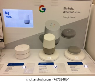 Dec 3rd, 2017-Ottawa, Canada: Google home systems for sale, out of stock for Christmas