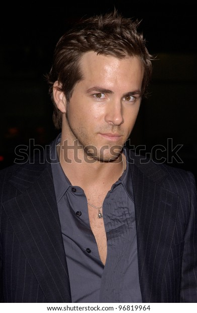 Dec 7, 2004; Los Angeles, CA: Actor RYAN REYNOLDS at the Los Angeles premiere of his new movie Blade: Trinity.