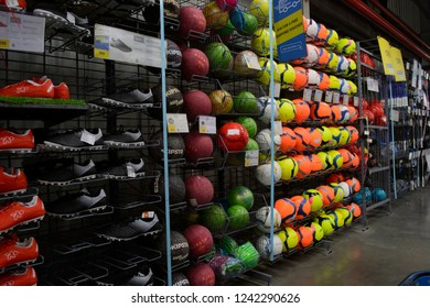 Decathlon, Howrah, India-Nov 25 2018: Decathlon is the largest French sporting goods retailer in the world where you get all Sports Essentials Under One Roof sell Kippa balls in different colours.