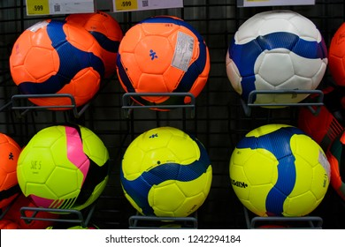 Decathlon, Howrah, India-Nov 25 2018: Decathlon is the largest French sporting goods retailer in the world where you get all Sports Essentials Under One Roof . You get colourful footballs from Kippa.