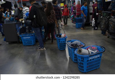 Decathlon, Howrah, India-Nov 25 2018: Decathlon is the largest French sporting goods retailer in the world where you get all Sports Essentials Under One Roof  like mountaineering, sporting.