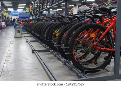 Decathlon, Howrah, India-Nov 25 2018: Decathlon is the largest French sporting goods retailer in the world where you get all kind of sports cycles with gear.