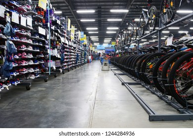 Decathlon, Uluberia, Howrah, India-Nov 25 2018: Decathlon is the worlds largest French sporting goods retailer in the world where you get all Sports and mountaineering  Essentials under one roof.