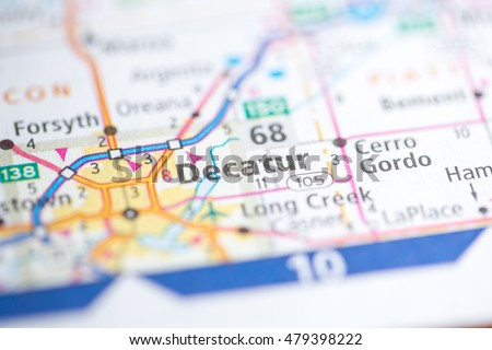 Decatur Illinois Map.Decatur Illinois Usa Stock Photo Edit Now 479398222 Shutterstock